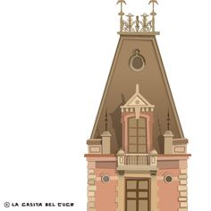 Victorian tower. Try out. Basic element for later illustrations.  ‪#‎illustration‬ ‪#‎ilustración‬ ‪#‎victorian‬ #LaCasitaDelCuco