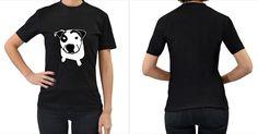 Pit+Bull+T+Bone+Graphic+Women's+T+Shirt+(black)+(two+Sided)+Women's+T-Shirt+(Black)+(Two+Sided)