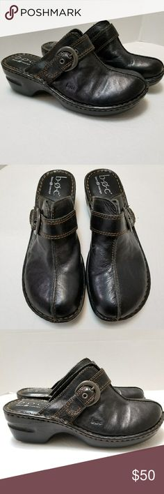 Born Concept BOC Shoes Clogs Brown Leather Size 8 Born Concept B.O.C Great condition with normal signs of wear. Size 8  My home is smoke free and pet free. Born Shoes Mules & Clogs