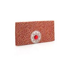 A Good Gift For Fiance Female Red White Brocade Pouch Birthday