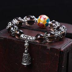 925 Sterling Silver Buddhist Bell Bracelet