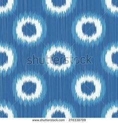 Seamless Faux Shibori Geometric Ikat Background Pattern