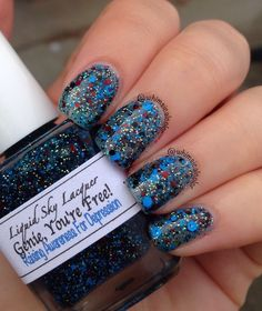 Liquid Sky Lacquer - Genie, You're Free! (tribute to Robin Williams) 50% will go to the Families For Depression Awareness, and the other 50% will be donated to the National Suicide Prevention Lifeline.