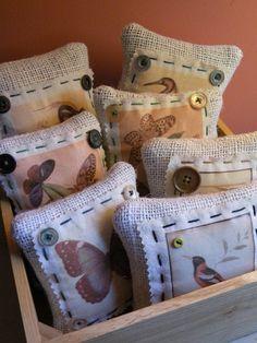 Pillows - Inspiration to make memory pillows using b/w photos transferred onto fabric.
