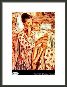 Mom And Me Framed Print By Holley Jacobs