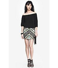 DECO SEQUIN EMBELLISHED MINI SKIRT from EXPRESS