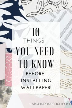 Ten things you NEED to know before installing wallpaper in your home. Read these tips first! Bathroom Wallpaper, Vinyl Wallpaper, Wallpaper Online, Pattern Wallpaper, Wallpaper Ideas, Where To Buy Wallpaper, How To Install Wallpaper, Interior Decorating Tips, Interior Design Tips
