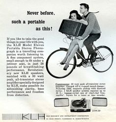 Ad for a portable phonograph, 1962.