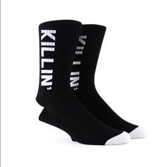 """Killin' It"" AG by Rob Kardashian socks  Scott Disick's ""Killin' It"".. socks by Arthur George. Maximum arch support and comfort for hard working feet. Tall enough for boots and Unisex style. 15% off bundles and free gifts with purchase.  Steph Arthur George  Accessories Hosiery & Socks"