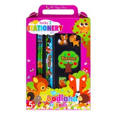 9a97aa7e351 The Piggy Story Lucky 7 Stationery Set - Forest Friends - Hollar