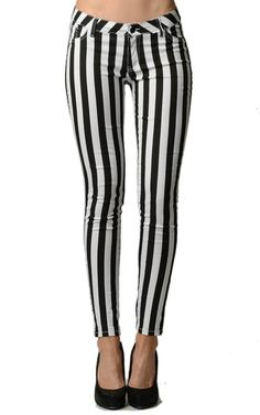 Stripped Navy and White Skinny Jeans