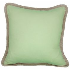 A throw pillow featuring jute trim is a fun find for a porch or sunroom. | $70