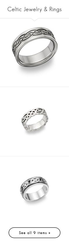 """Celtic Jewelry & Rings"" by applesofgoldjewelry ❤ liked on Polyvore featuring jewelry, rings, titanium jewelry, titanium wedding band ring, wedding rings, celtic rings, titanium ring, 14 karat gold jewelry, 14 karat ring and 14k white gold jewelry"