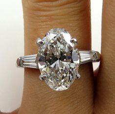 Estate Vintage 3.43ct Classic OVAL Cut Diamond by TreasurlybyDima