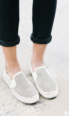 Tomboy-cool style and walk-all-day wearability: Tory Burch Miles Perforated Sneaker