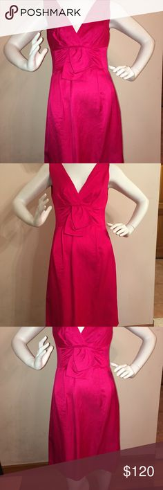 Nanette Lepore Red Dress Sleeveless, bow detail in front, zipper down the middle back, small split in bottom skirt, worn once and dry cleaned only. Perfect condition. Please ask any and all questions before purchasing. Nanette Lepore Dresses Midi