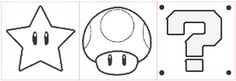 mario+star+mushroom template Thinking of using these for my painted concrete patio. Maybe put these in a diff color on top of a blue or green? Bolo Super Mario, Super Mario Birthday, Mario Birthday Party, Super Mario Party, Boy Birthday, Birthday Ideas, Mario Star, Mario E Luigi, Super Mario Brothers