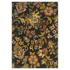 Oriental Weavers of America Isabella 9-ft 10-in x 12-ft 9-in Rectangular Black Floral Area Rug