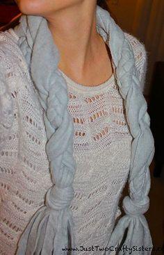 Easy No-Sew Braided Fleece Scarf