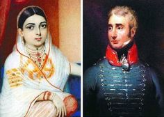 Portraits of James Achilles Kirkpatrick (1764-1805), British Resident at the court of the Nizam of Hyderabad, and his wife Begam Khair un-Nisa, a lady closely connected to the court.