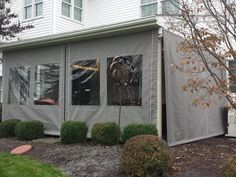 Superb Canvas With Vinyl Window Patio Enclosure. Drop Curtain Weighted With Steel  Bar Can Be Raised