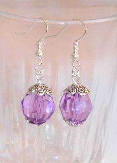 Purple+Crystal+Earrings