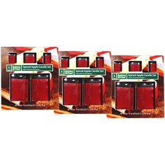 Holiday Time 5-Piece Jar Candle Gift Set Bundle, Red