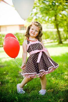 Süßes Petticoatkleid Art3010 für Kinder Gr. 80-104 von Atelier Belle Couture 50er Jahre Petticoatkleider Rockabilly Kleider auf DaWanda.com