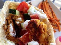 Baked Falafels with Tzatziki Sauce - Vegetarian or not, give these baked falafels with tzatziki sauce a try if you're looking to liven up your dinners and keep them healthy yet satisfying.