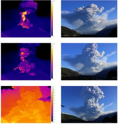 Tungurahua volcano erupts on Feb. 1, 2014, sending pyroclastic flows down its slopes.