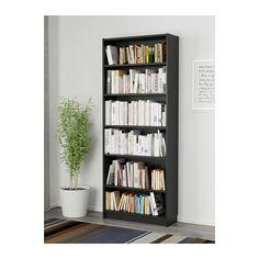 BILLY Bookcase, black-brown black-brown 31 1/2x11x79 1/2
