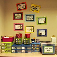 Writing Center - love the Student's Writing Folders tub.