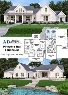 house plans with in law suite * house plans + house plans one story + house plans farmhouse + house plans with wrap around porch + house plans with in law suite + house plans 4 bedroom + house plans with basement + house plans open floor House Plans One Story, Family House Plans, New House Plans, Dream House Plans, Dream Houses, House Design Plans, Retirement House Plans, 5 Bedroom House Plans, 2200 Sq Ft House Plans
