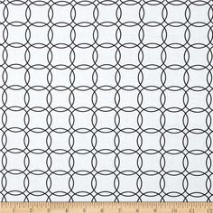 Metro Living Interlocking Circles White from @fabricdotcom  Designed by Studio RK for Robert Kaufman, this cotton print is perfect for quilting, apparel and home decor accents.  Colors include white and black.