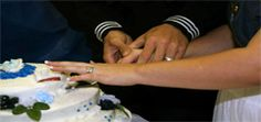 Colton and Ashley Yount cutting cake