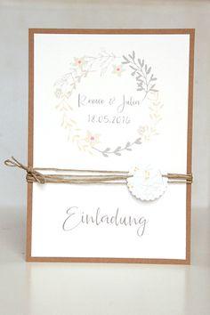 Vintage Wedding   Einladung Hochzeit   DIY
