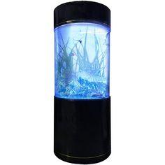 Tucker Murphy™ Pet Alan 20 Gallon Tower Square Aquarium Tank | Wayfair 20 Gallon Aquarium, Column Lights, Acrylic Aquarium, Biorb, Saltwater Tank, Gold Line, Fish Tank, Lava Lamp, Floor Space