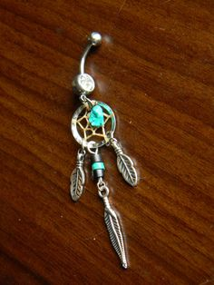 Dream Catcher Belly Ring- it might get long but it's so cute