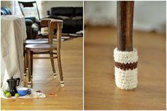 Chair socks Floor protector chair leg socks table by HandfulCrafts