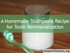 homemade-toothpaste - 2 Tbsp. coconut oil, 2 Tbps. baking soda, 2 Tbsp. calcium magnesium powder, 2 Tbps. xylitol or green stevia powder, 2 tsp. real sea salt, 20 drops essential oil (I use peppermint), 10 drops trace minerals - This toothpaste is a great follow up to oil pulling.