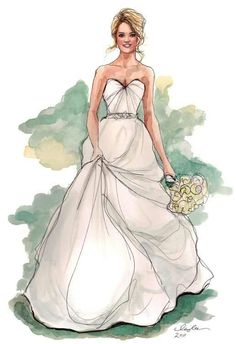 "LINE BOTWIN ""wedding illustrations"" #mariage #mariée #wedding #bride #bridal"