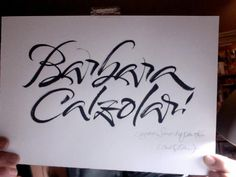 Carl Rohrs Brush Script does Barbara Calzolari's name. I could study each of these letter forms for months.