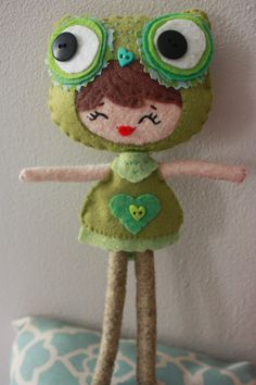 Poseable Owl Girl Doll by MinandMoots on Etsy, $35.00