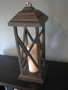 Rustic Wooden Lanterns, think I cld make one of these. :)