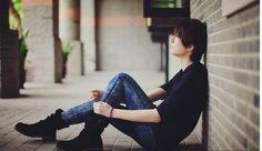 Solitude Boy Images Sitting Alone with Emotional Thoughts and thinking after love breakup