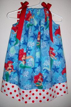 Pillowcase Dress Disney Little Mermaid Ariel by lilsweetieboutique