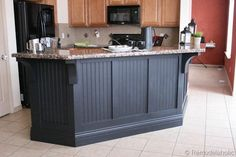 like the shape and the corbels. black board and batten kitchen island makeover-1