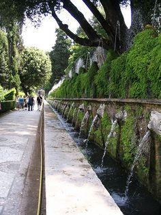 Le Cento Fontane Villa d'Este, Tivoli, Rome Tivoli Villa D'este, Tivoli Rome, Tivoli Italy, Backyard Garden Design, Garden Landscape Design, Verticle Garden, Best Places In Italy, Indian Garden, Diy Water Feature