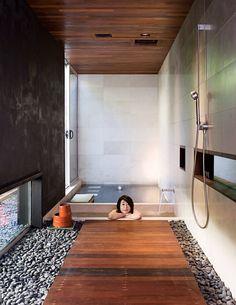 Japanese inspired bathroom    http://www.dwell.com/slideshows/The-Hidden-Fortress.html?slide=13=y=true