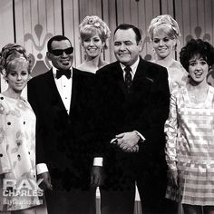 Ray Charles, The Four King Cousins (Tina and Cathy Cole, Candy Conkling, Carolyn Cameron) and Jonathan Winters, lining up at the latter's TV show on February 26 (aired on March 6),1968.